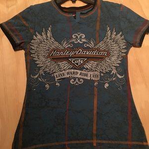 Ladies Harley Davidson cafe Vegas shirt Large